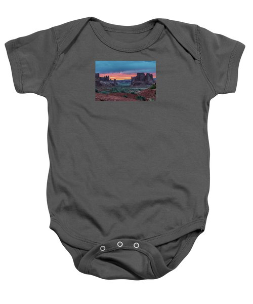 Courthouse Towers Arches National Park Baby Onesie
