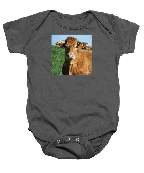 Cow Portrait Baby Onesie