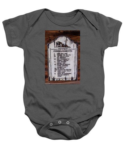 Cowboy Commandments Baby Onesie
