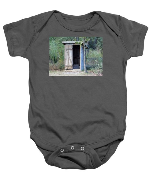 Cracker Out House Baby Onesie
