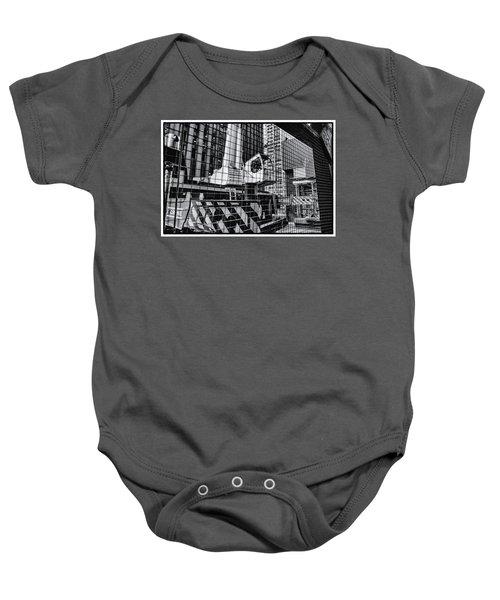 Crane In Manhattan Baby Onesie