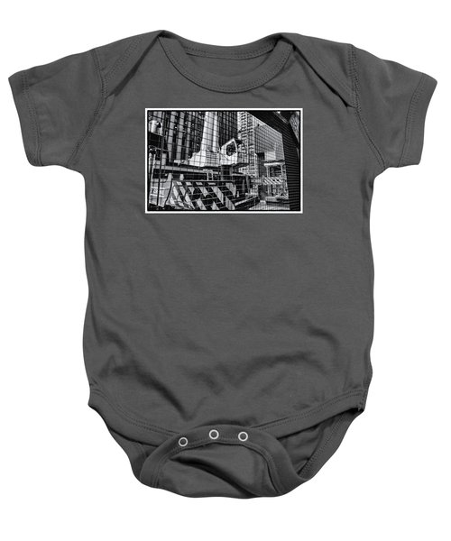 Crane In Manhattan Baby Onesie