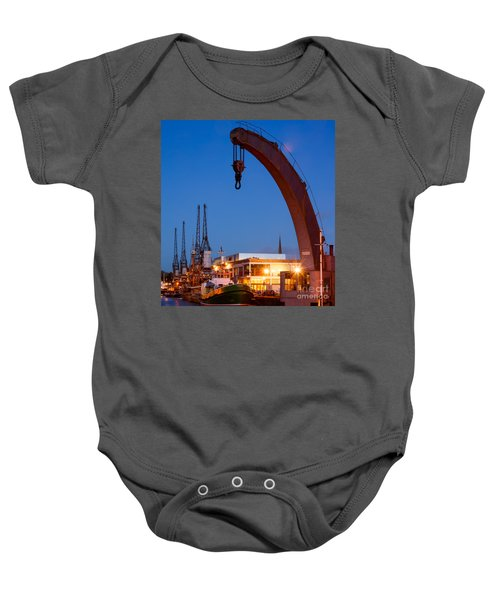 Cranes, Bristol Harbour Baby Onesie