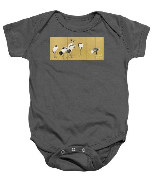 Cranes Baby Onesie