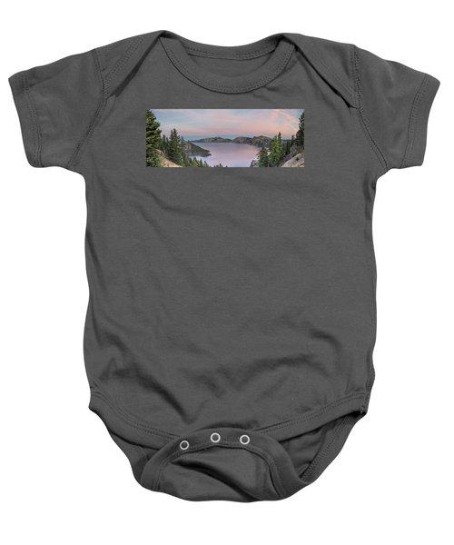 Crater Lake Sunset Baby Onesie