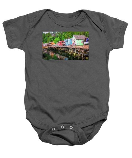 Creek Street Ketchikan Alaska Baby Onesie