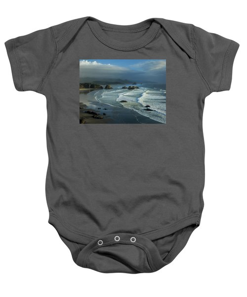 Crescent Beach And Surf Baby Onesie