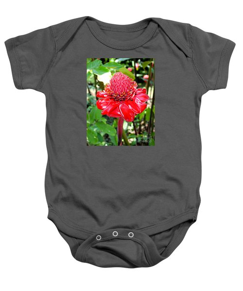 Crimson Bloom Baby Onesie