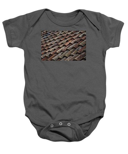 Croatian Roof Tiles Baby Onesie