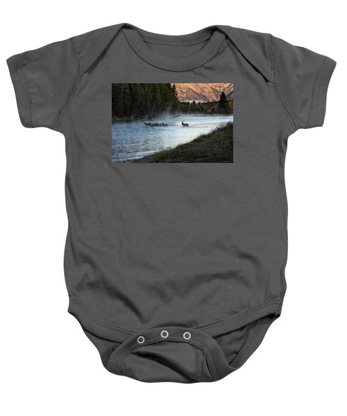 Crossing The River Baby Onesie