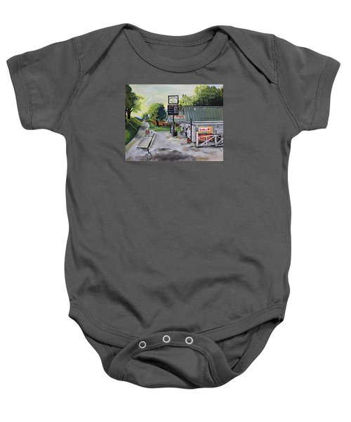 Crossroads Grocery - Elijay, Ga - Old Gas And Grocery Store Baby Onesie