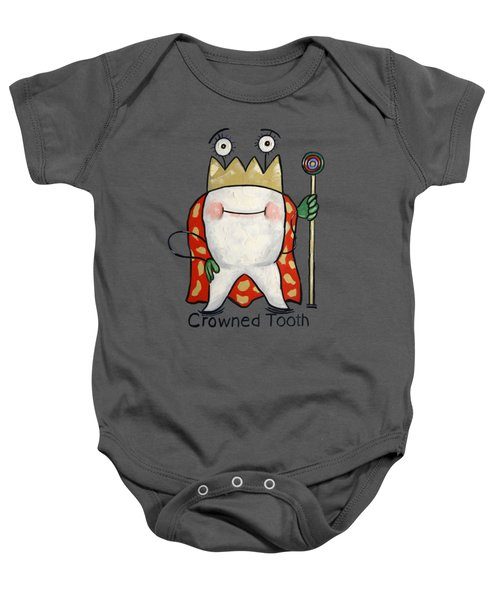 Crowned Tooth T-shirt Anthony Falbo Baby Onesie