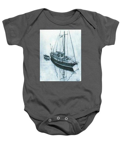 Crusader At Anchor Baby Onesie