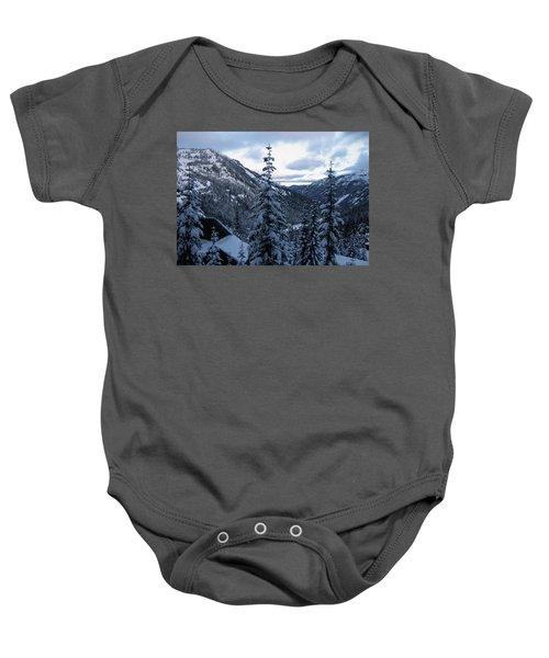 Crystal Mountain Dawn Baby Onesie