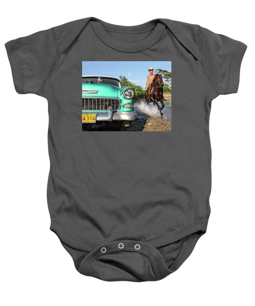 Cuban Horsepower Baby Onesie