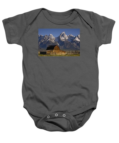 Cunningham Cabin In Front Of Grand Baby Onesie