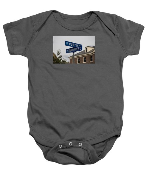 Curtin And Burrowes Penn State  Baby Onesie by John McGraw