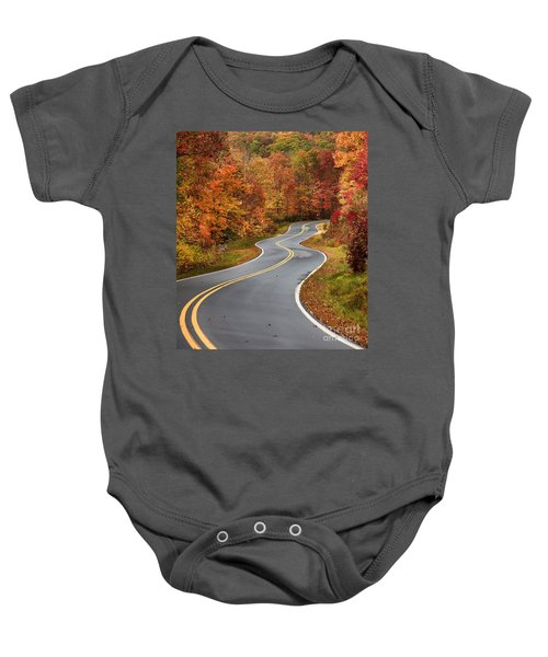 Curvy Road In The Mountains Baby Onesie
