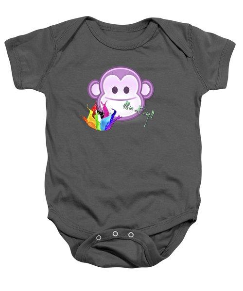 Cute Gorilla Baby Baby Onesie by Maria Astedt