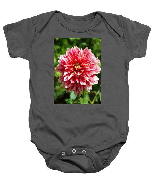 Baby Onesie featuring the digital art Dahlia 3 by Charmaine Zoe