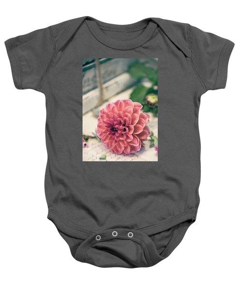 Dahlia Bloom Baby Onesie
