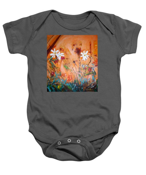 Daisies Along The Fence Baby Onesie