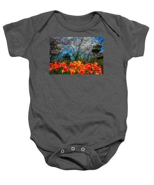Dallas Arboretum Tulips And Cherries Baby Onesie