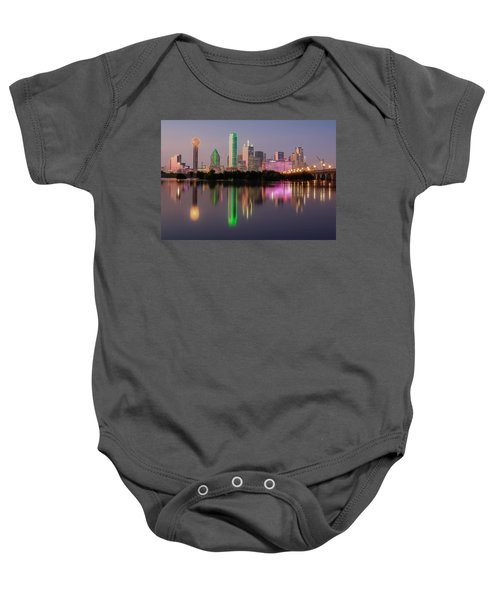 Dallas City Reflection Baby Onesie