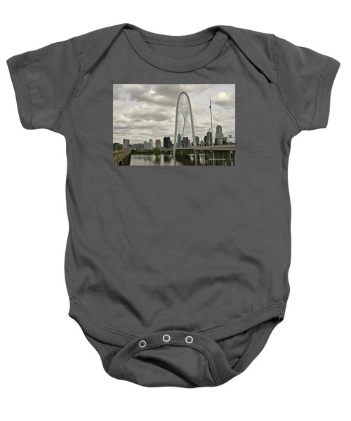 Dallas Suspension Bridge Baby Onesie