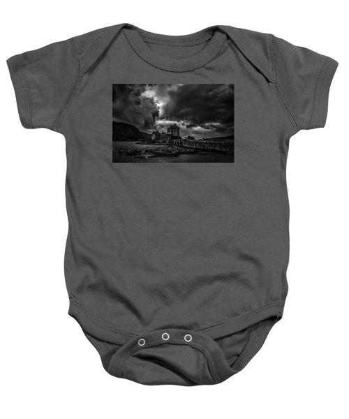 Dark Clouds Bw #h2 Baby Onesie