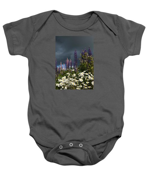 Dark Clouds Baby Onesie