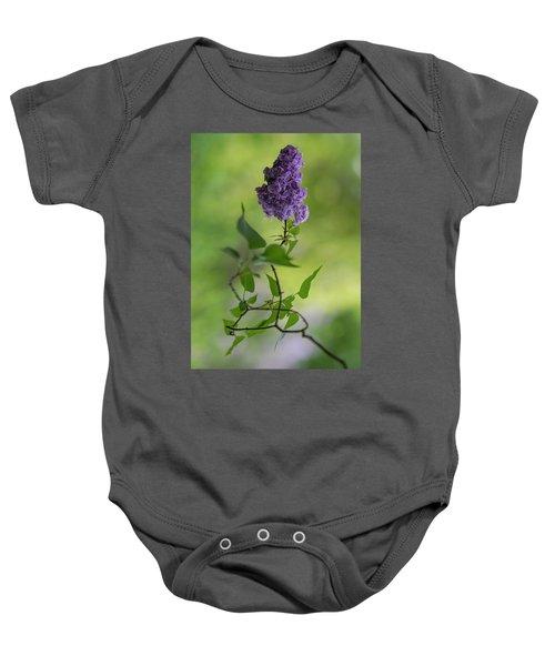 Dark Violet Lilac Baby Onesie