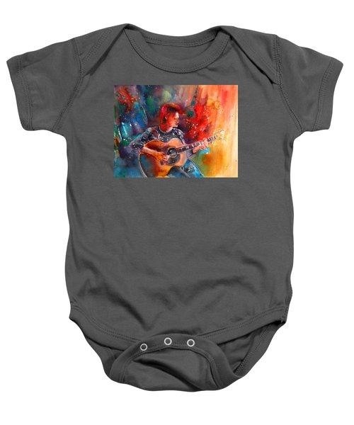 David Bowie In Space Oddity Baby Onesie