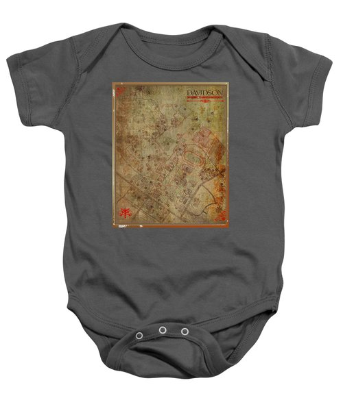 Davidson College Map Baby Onesie