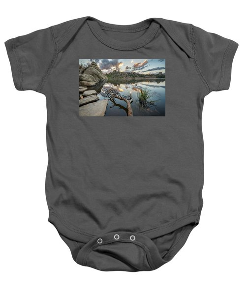 Baby Onesie featuring the photograph Dawn At Sylvan Lake by Adam Romanowicz