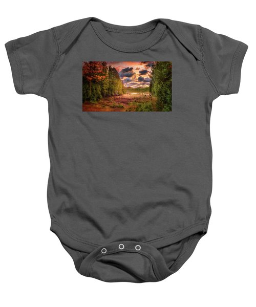 Dawn At The Lake Baby Onesie