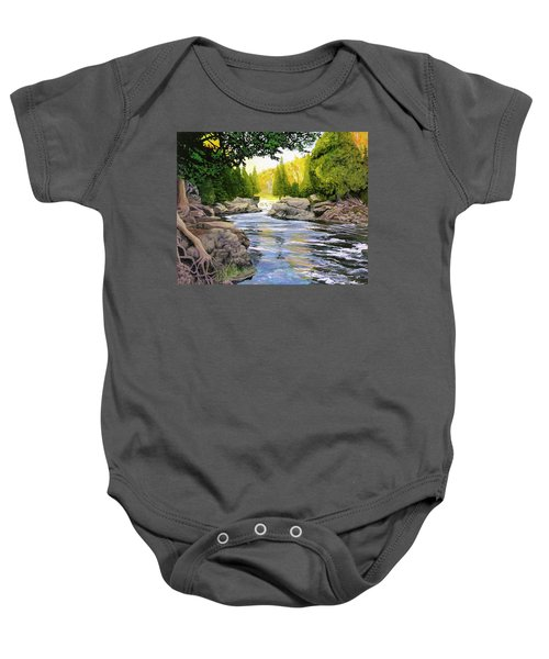 Dawn On The River Baby Onesie