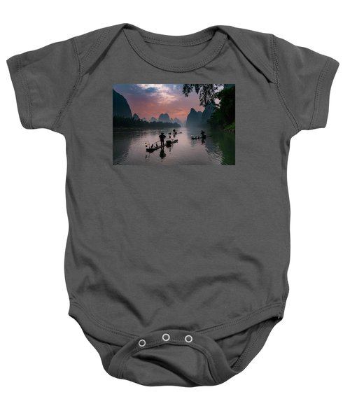 Waiting For Sunrise On Lee River. Baby Onesie