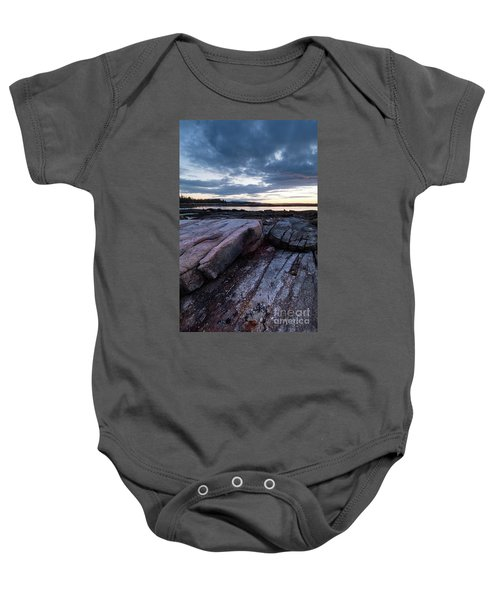 Dawn On The Shore In Southwest Harbor, Maine  #40140-40142 Baby Onesie