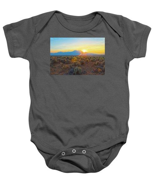 Dawn Over Magic Taos Mountain Baby Onesie