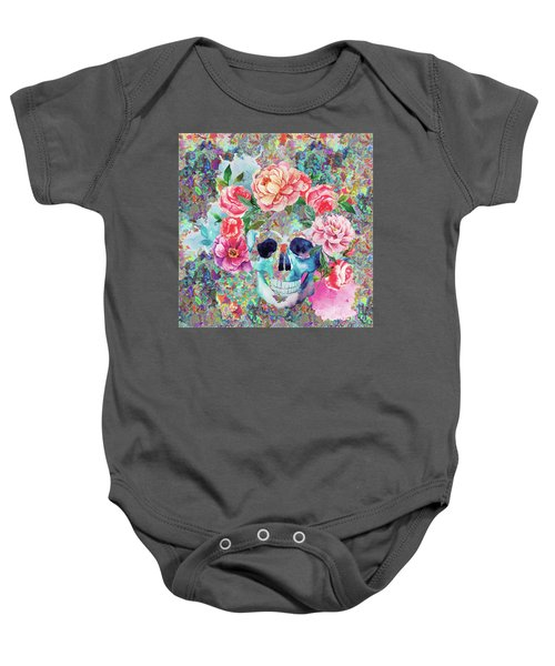 Day Of The Dead Watercolor Baby Onesie