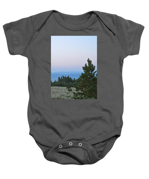 Daybreak On The Mountain Baby Onesie