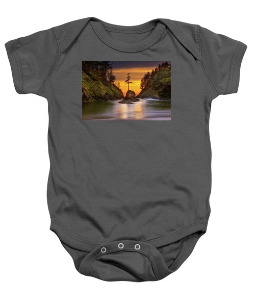 Deadman's Cove At Cape Disappointment State Park Baby Onesie