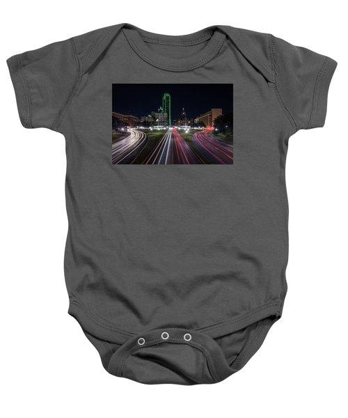 Dealey Plaza Dallas At Night Baby Onesie