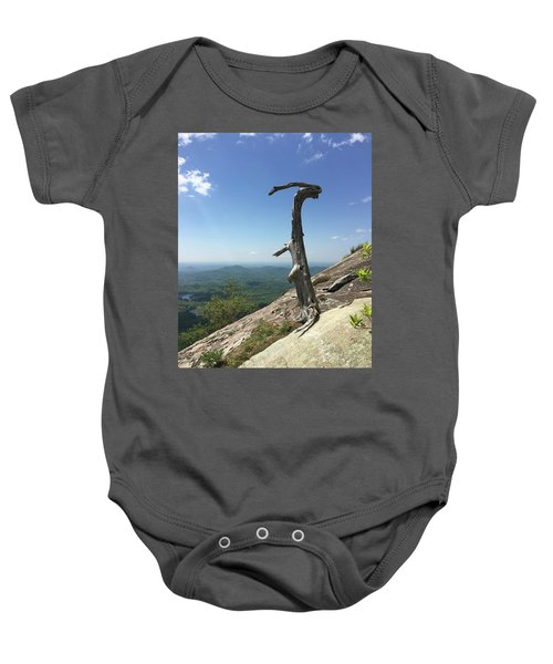 Decaying Tree At The Top Of Table Rock Trail South Carolina Baby Onesie