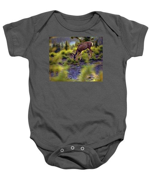 Deer At Crater Lake, Oregon Baby Onesie