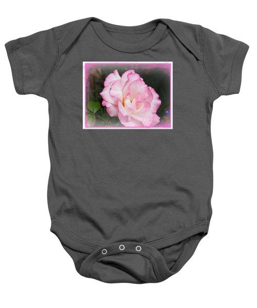 Delicate Pink Petals Baby Onesie