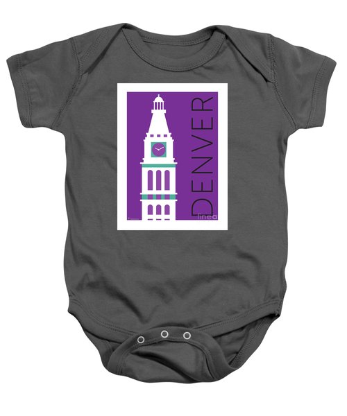 Denver D And F Tower/purple Baby Onesie