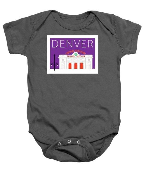 Denver Union Station/purple Baby Onesie