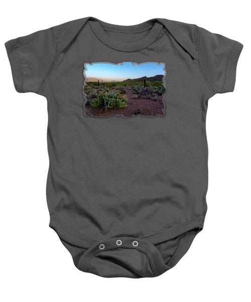 Desert Foothills H29 Baby Onesie by Mark Myhaver